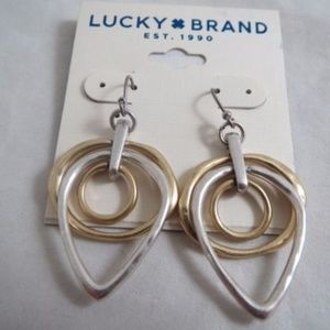Nwt Lucky Brand earring/ silver and gold